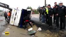Video:servis-minibusu-devrildi-18-yarali