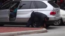 Video:kadin-surucu-lastigine-takilan-kilidi-boyle-kirdi