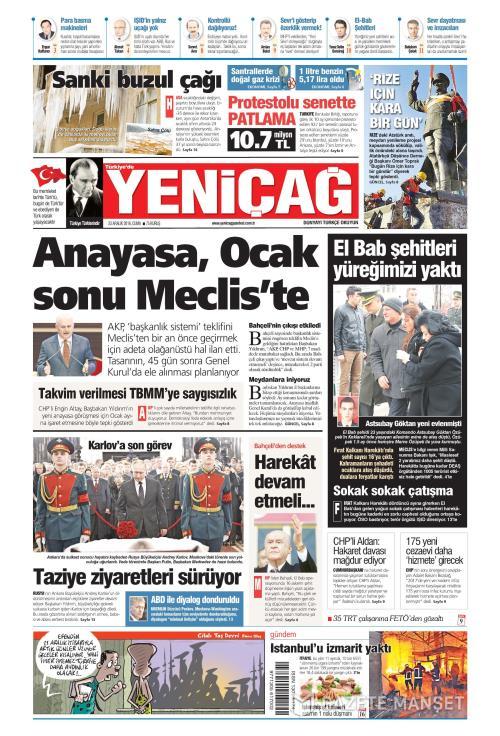 Türkiye'de Yeni Çağ - 23 Aralık 2016