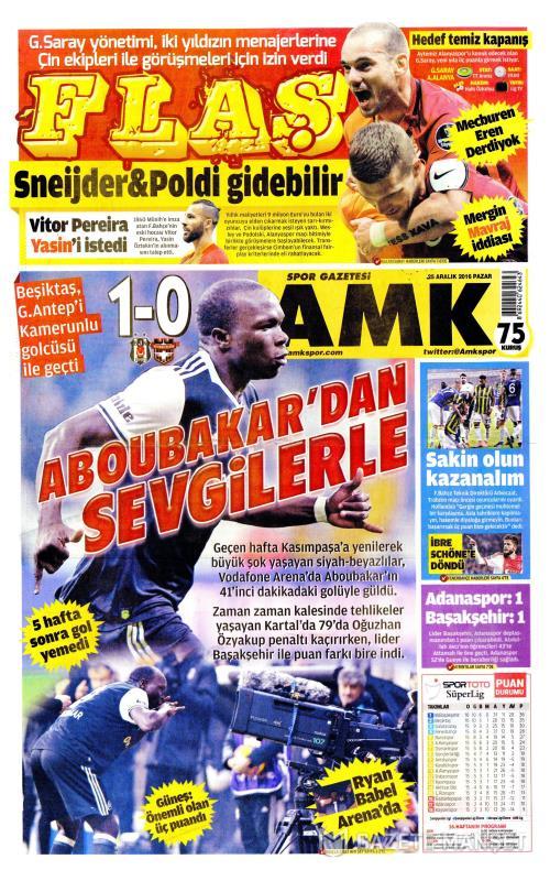AMK - 25 Aralık 2016