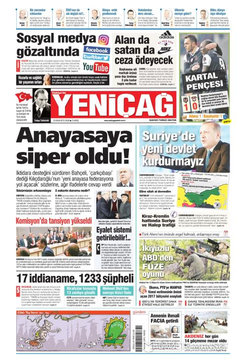 Türkiye'de Yeni Çağ - 25 Aralık 2016