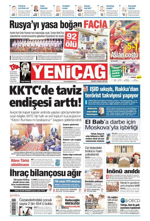 Türkiye'de Yeni Çağ - 26 Aralık 2016
