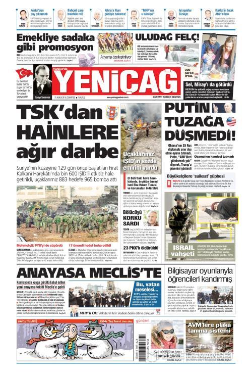 Türkiye'de Yeni Çağ - 31 Aralık 2016