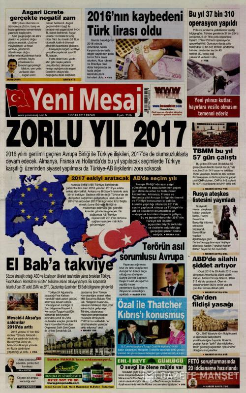 YENİ MESAJ - 01 Ocak 2017