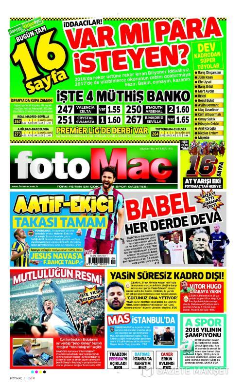 FOTOMAÇ - 03 Ocak 2017
