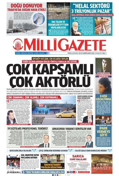 MİLLİ GAZETE - 03 Ocak 2017