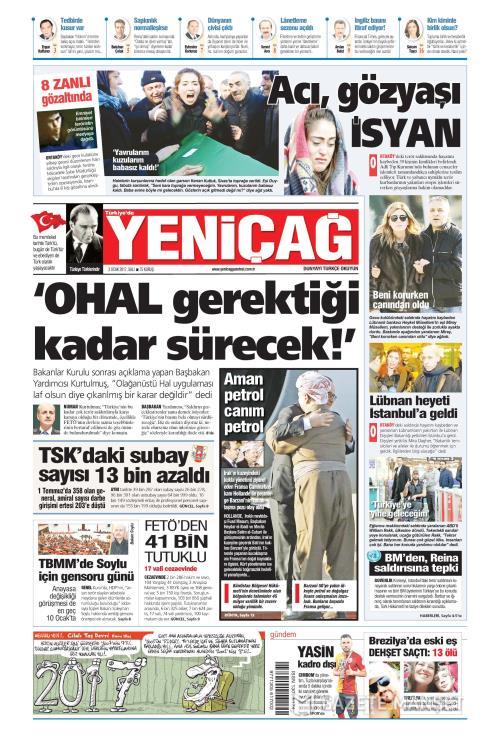 Türkiye'de Yeni Çağ - 03 Ocak 2017
