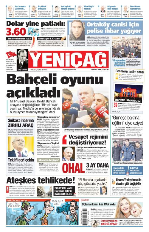 Türkiye'de Yeni Çağ - 04 Ocak 2017