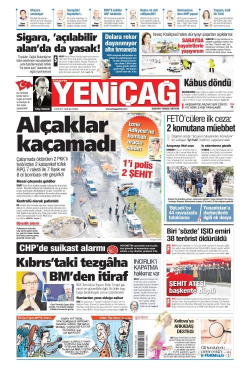 Türkiye'de Yeni Çağ - 06 Ocak 2017