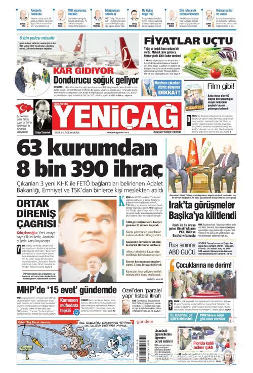Türkiye'de Yeni Çağ - 08 Ocak 2017