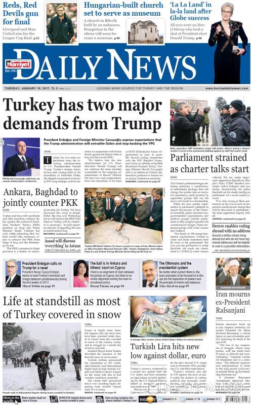 HÜRRİYET DAİLY NEWS - 10 Ocak 2017
