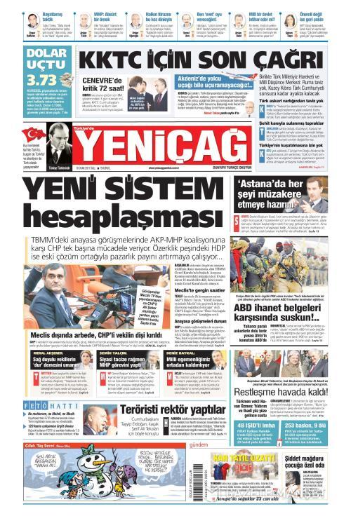 Türkiye'de Yeni Çağ - 10 Ocak 2017