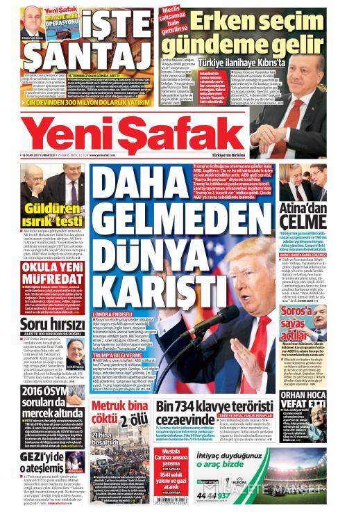 YENİ ŞAFAK - 14 Ocak 2017