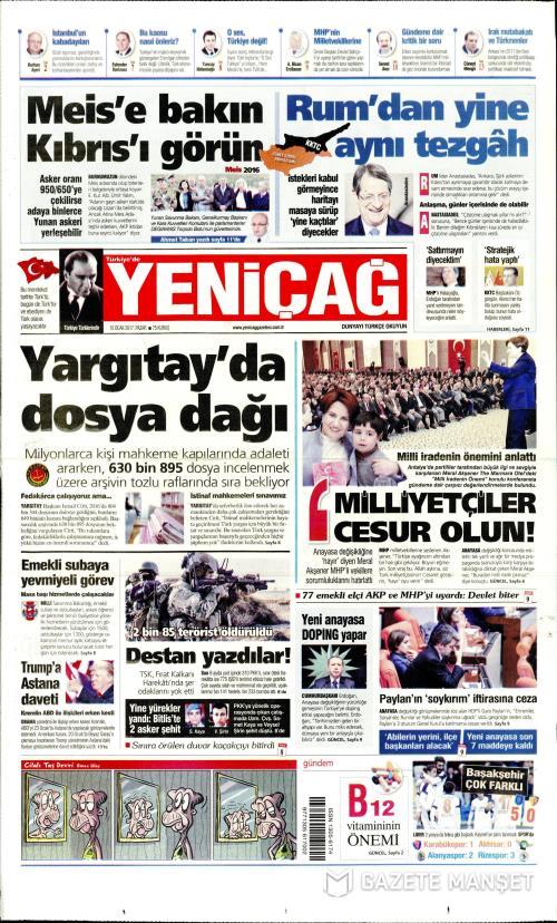 Türkiye'de Yeni Çağ - 15 Ocak 2017