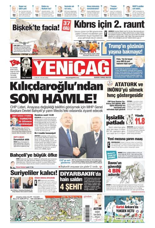 Türkiye'de Yeni Çağ - 17 Ocak 2017
