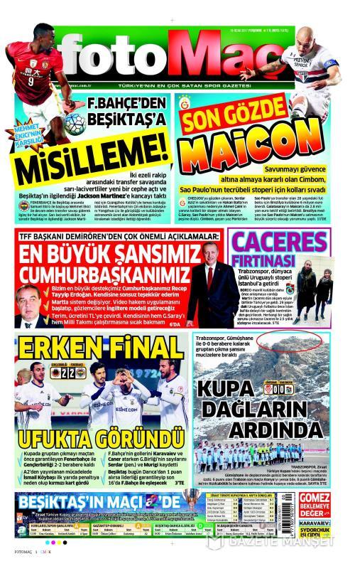 FOTOMAÇ - 19 Ocak 2017
