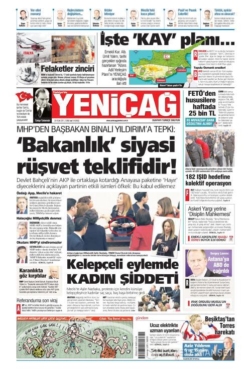 Türkiye'de Yeni Çağ - 20 Ocak 2017