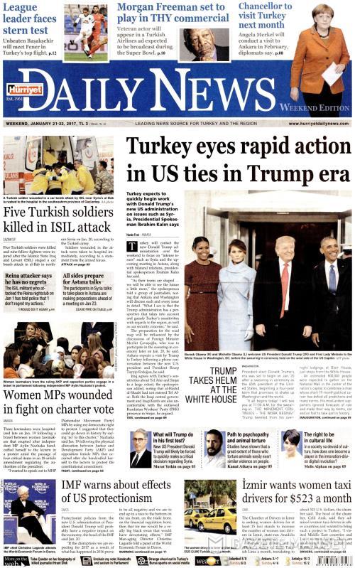 HÜRRİYET DAİLY NEWS - 21 Ocak 2017