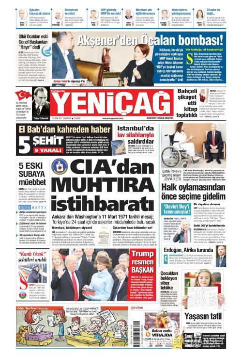 Türkiye'de Yeni Çağ - 21 Ocak 2017