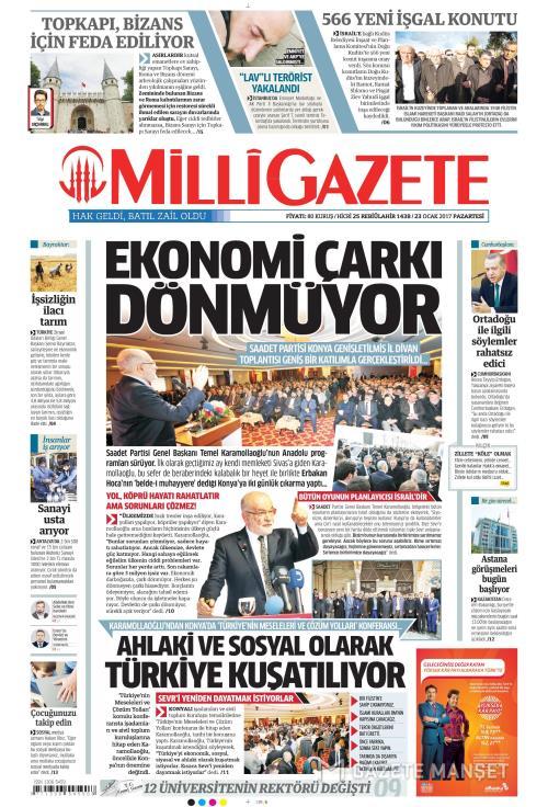 MİLLİ GAZETE - 23 Ocak 2017