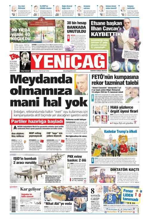 Türkiye'de Yeni Çağ - 23 Ocak 2017