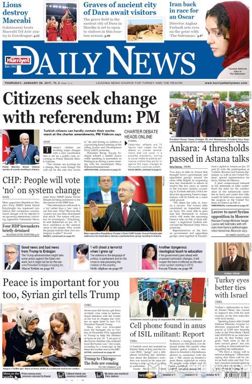 HÜRRİYET DAİLY NEWS - 26 Ocak 2017