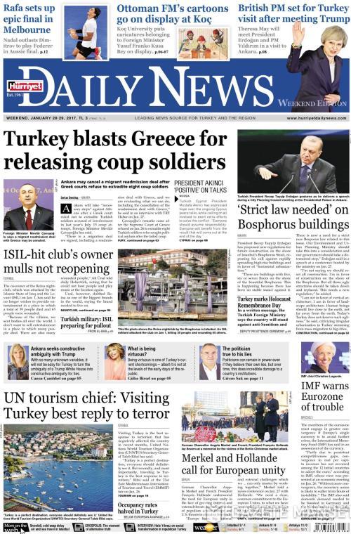 HÜRRİYET DAİLY NEWS - 28 Ocak 2017