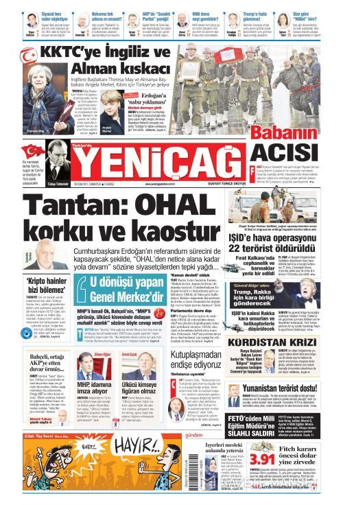 Türkiye'de Yeni Çağ - 28 Ocak 2017