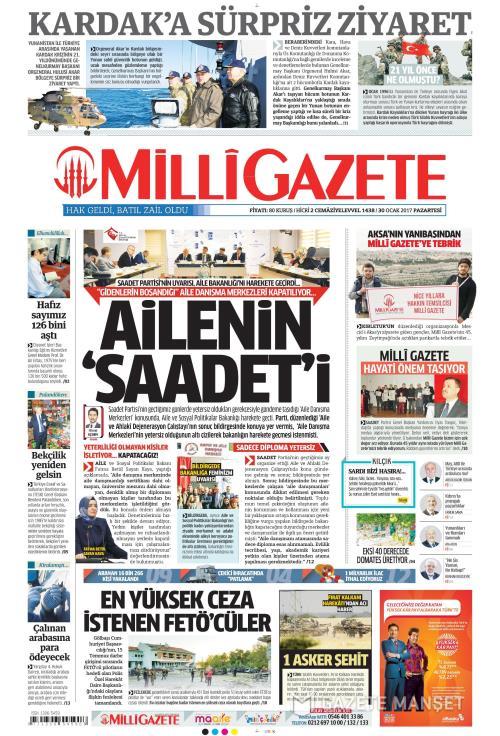 MİLLİ GAZETE - 30 Ocak 2017