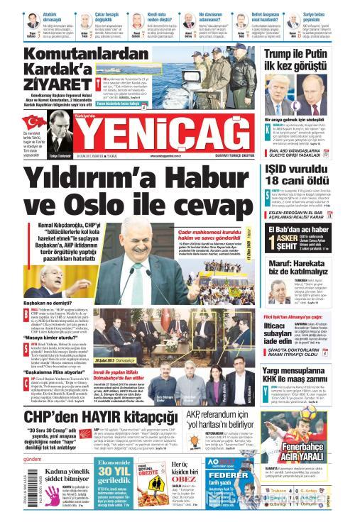Türkiye'de Yeni Çağ - 30 Ocak 2017