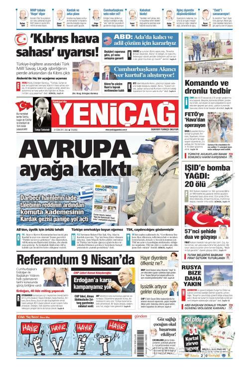 Türkiye'de Yeni Çağ - 31 Ocak 2017