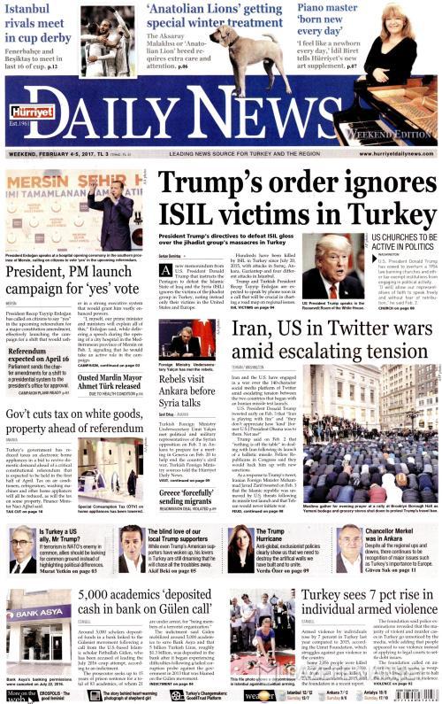 HÜRRİYET DAİLY NEWS - 04 Şubat 2017