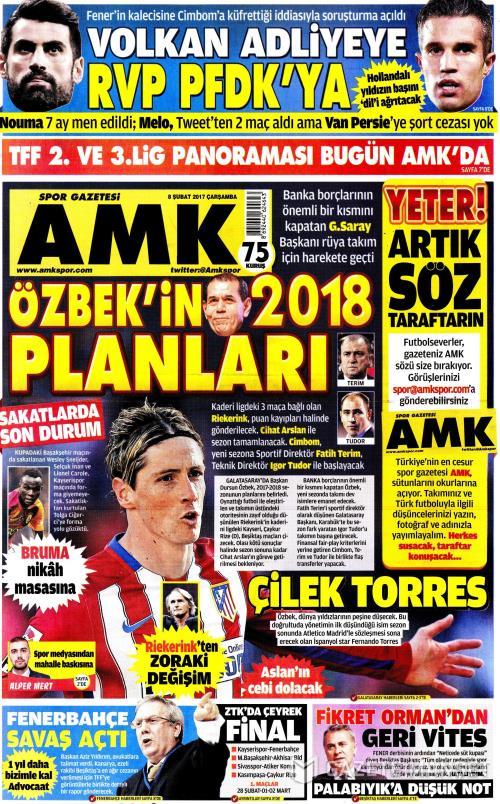 AMK - 08 Şubat 2017