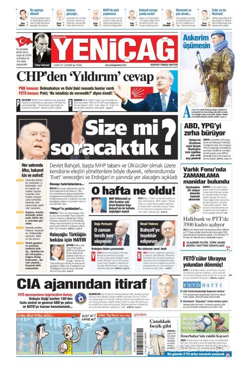 Türkiye'de Yeni Çağ - 08 Şubat 2017