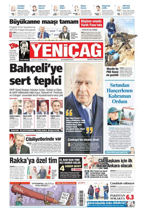 Türkiye'de Yeni Çağ - 09 Şubat 2017