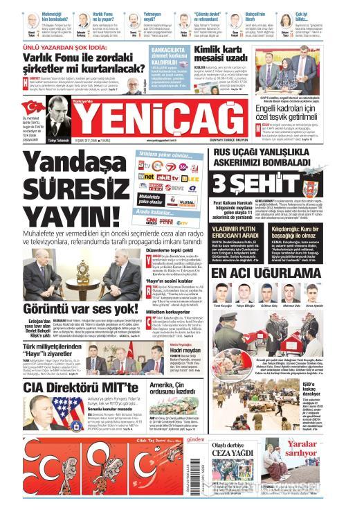 Türkiye'de Yeni Çağ - 10 Şubat 2017