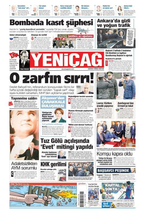 Türkiye'de Yeni Çağ - 11 Şubat 2017