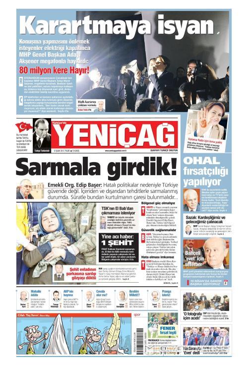 Türkiye'de Yeni Çağ - 12 Şubat 2017