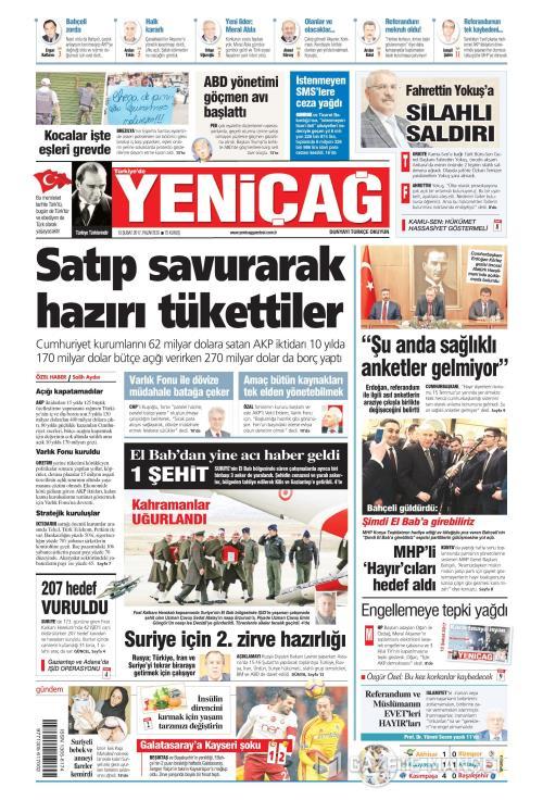 Türkiye'de Yeni Çağ - 13 Şubat 2017