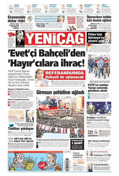 Türkiye'de Yeni Çağ - 14 Şubat 2017