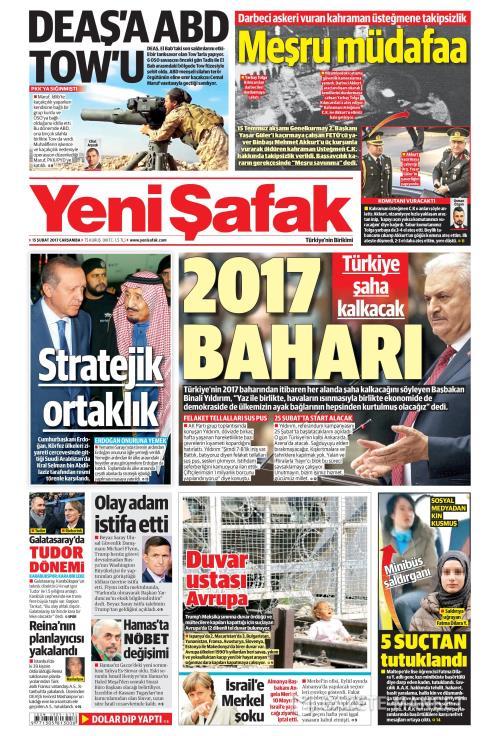 YENİ ŞAFAK - 15 Şubat 2017