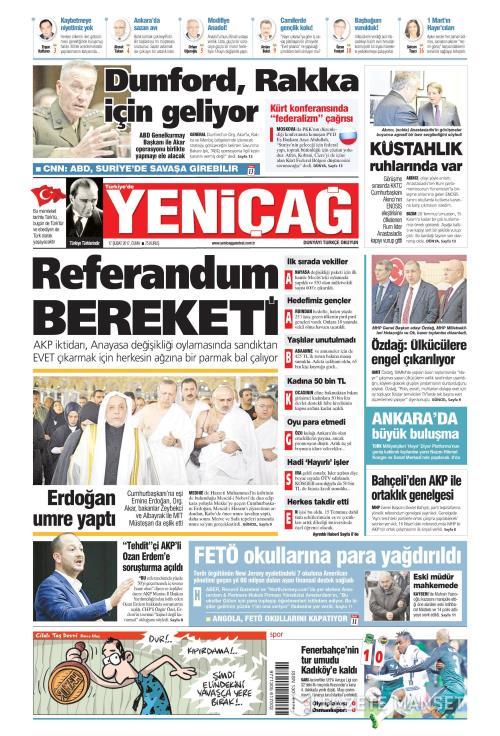 Türkiye'de Yeni Çağ - 17 Şubat 2017