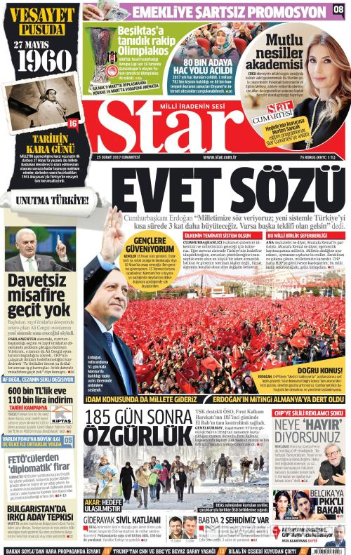 STAR - 25 Şubat 2017