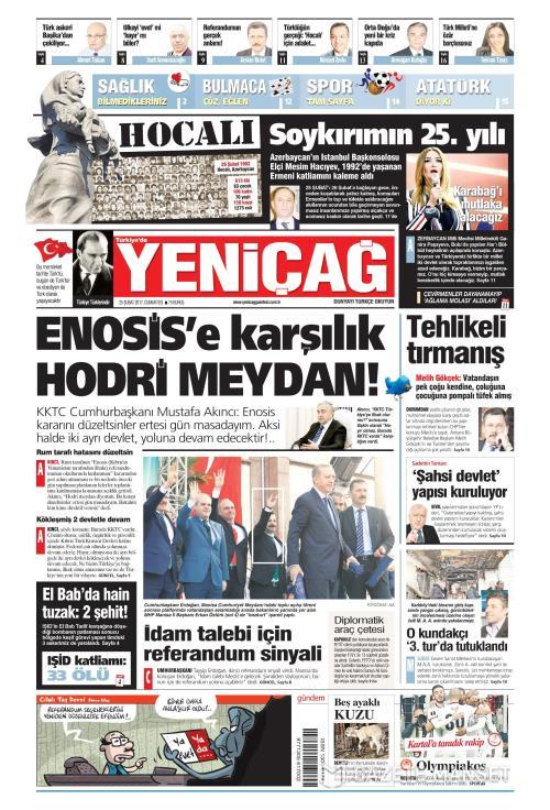 Türkiye'de Yeni Çağ - 25 Şubat 2017