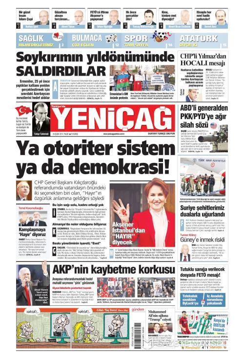Türkiye'de Yeni Çağ - 26 Şubat 2017