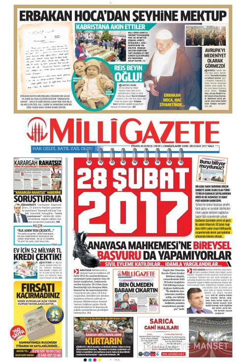 MİLLİ GAZETE - 28 Şubat 2017