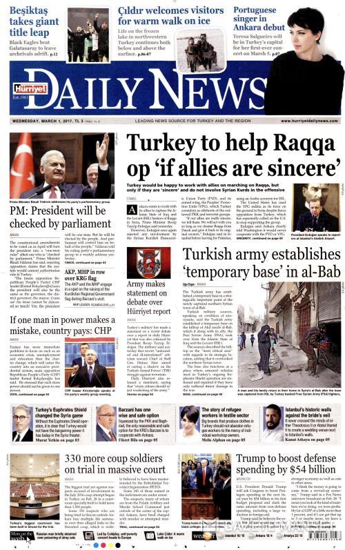 HÜRRİYET DAİLY NEWS - 01 Mart 2017