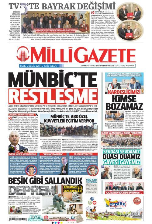 MİLLİ GAZETE - 03 Mart 2017