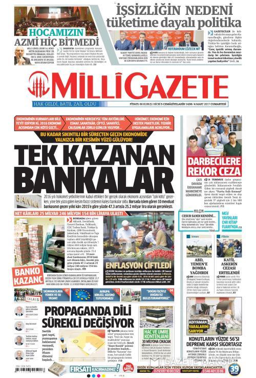MİLLİ GAZETE - 04 Mart 2017
