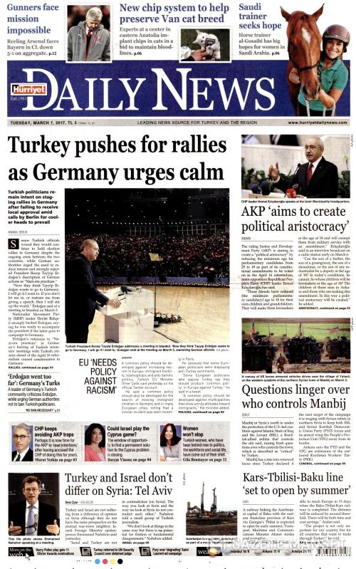 HÜRRİYET DAİLY NEWS - 07 Mart 2017